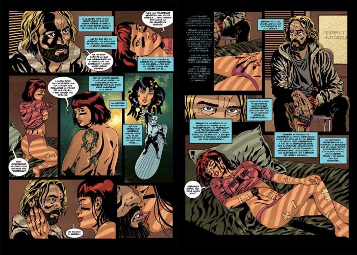 "Viñetas de ""Nasty Pills"" de Massacre, editado per Dibbuks."