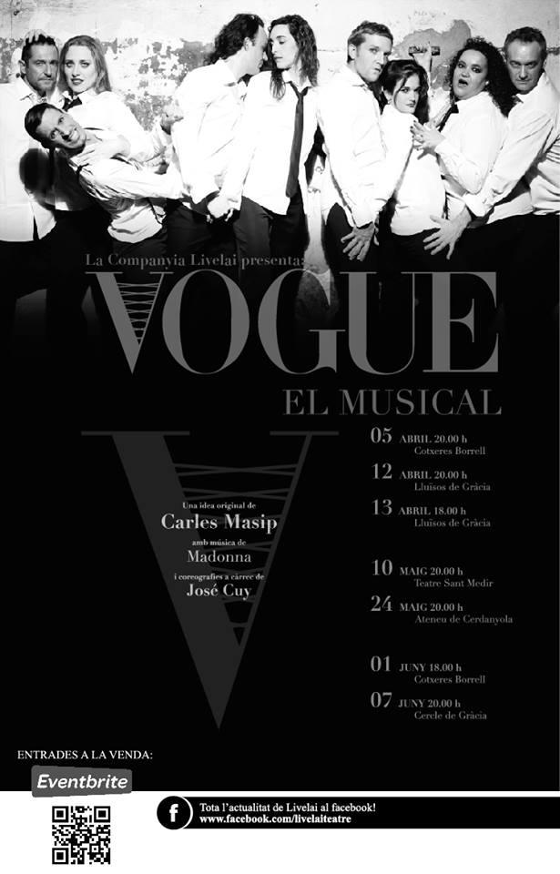 """Funcions programades per a """"VOGUE"""" el musical."""
