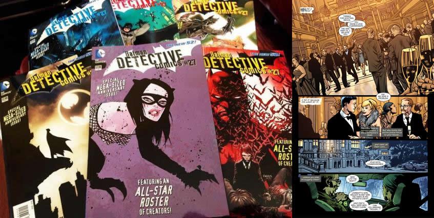 """Portadas alternativas del número especial por los 75 años de Batman del """"Detective Comics 27"""". Y viñetas."""