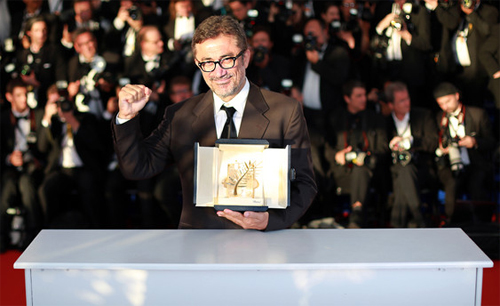 El director Nuri Bilge Ceylan amb la seva Palma d'Or