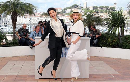"Juliette Binoche i Chloë Moretz, protagonistes de ""Sils Maria"""