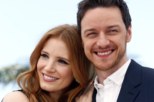 Jessica Chastain i James McAvoy