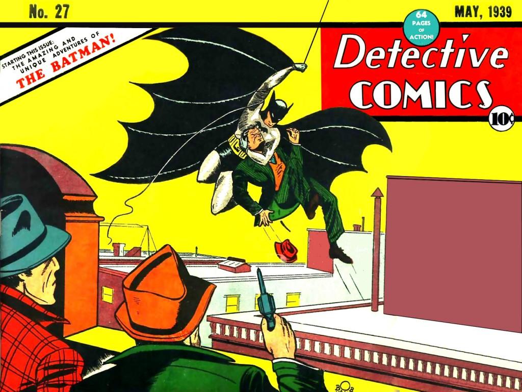 """Portada Original del """"Detective Comics"""" núm.27 amb Batman"""