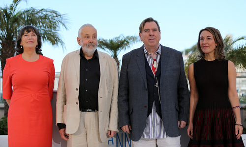 "Mike Leigh i l'equip de ""Mr. Turner"" a Cannes"