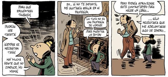 """Vinyetes de """"Marte, ida y vuelta"""" de Pierre Wazem. Ediciones La Cúpula."""