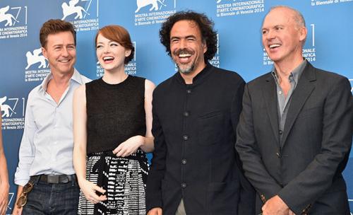 "Edward Norton, Emma Stone, Iñárritu i Michael Keaton presenten ""Birdman"" a Venecia"