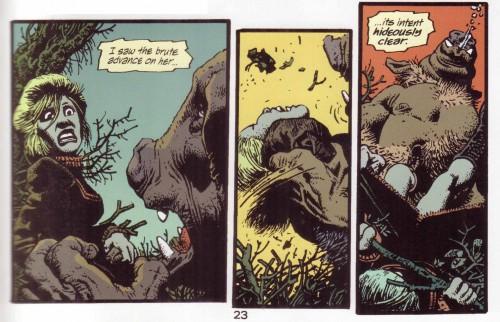 """Vinyetes de """" La casa en el confín de la tierra"""" de Richard Corben"""
