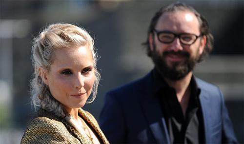 """Noomi Rapace i el director Michaël R. Roskam presentant """"The Drop"""" a San Sebastian"""