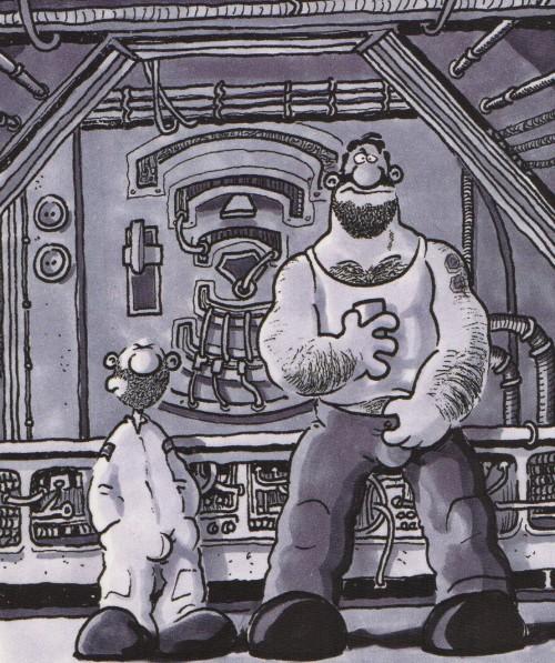 "Vinyeta de ""Estación Espacial Deseo"" de Ralf König"