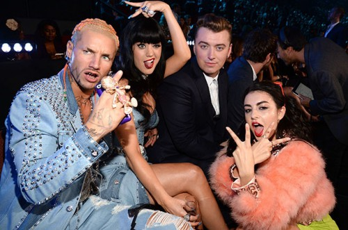 Riff Raff, Katy Perry, Sam Smith i Charli XCX, als VMAs 2014.