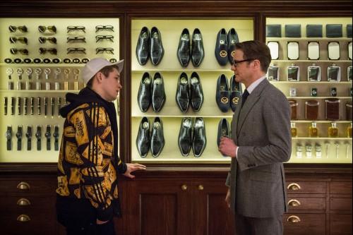 "Taron Egerton i Colin Firth a ""Kingsman: Servicio Secreto"""