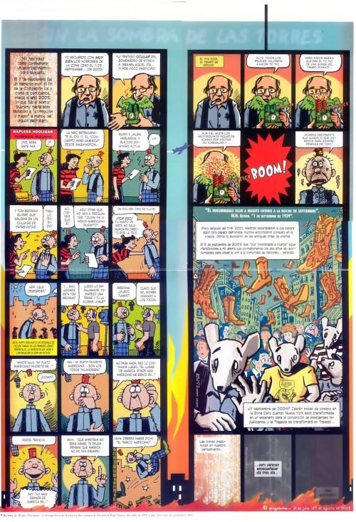 "Vinyetes de ""Sin la sombra de las torres"" d'Art Spiegelman"