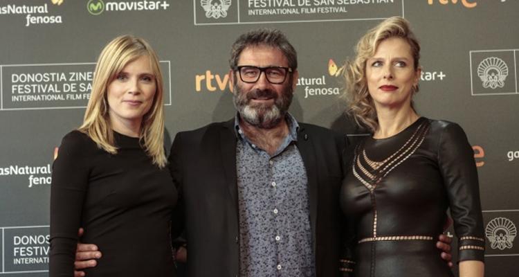 """Isabelle Carré, Sergi López i Karin Viard, protagonistes de """"21 nuits avec Pattie"""". Foto: Montse Castillo"""