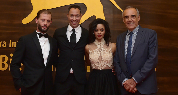 "El equipo de ""The endless river"" en la Mostra de Venecia"