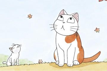 La abuela y su gato gordo