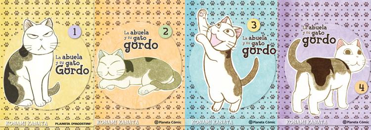 La abuela y su gato gordo (1,2,3,4)