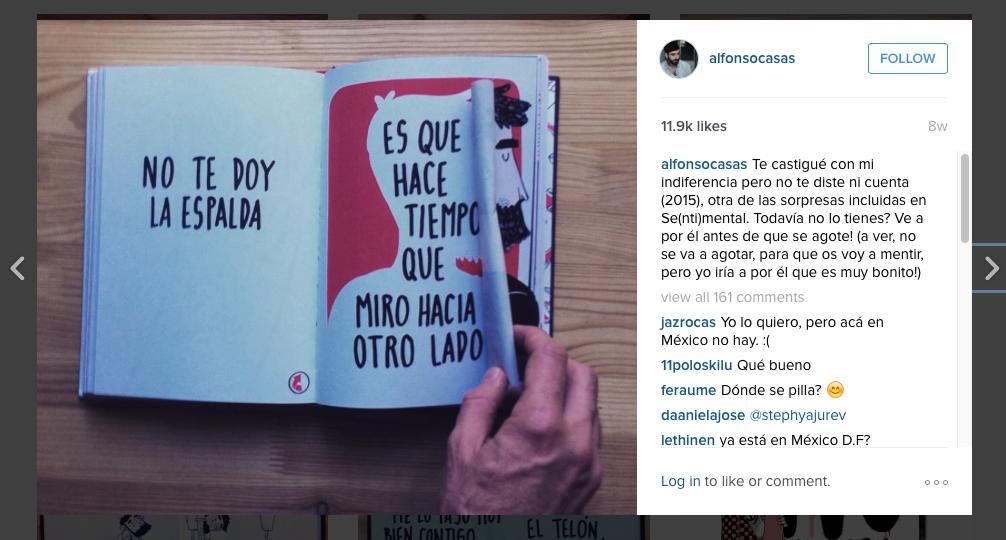 Alfonso Casas a Instagram