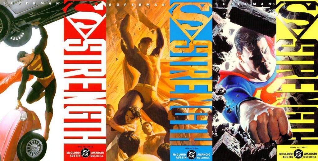 Portadas originales Superman. Fuerza. Grandes autores de Superman. Scott McCloud. ECC ediciones.